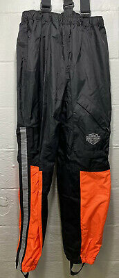 Harley Davidson Rain Pants Mens Medium High Visibility Neon Reflective Weather