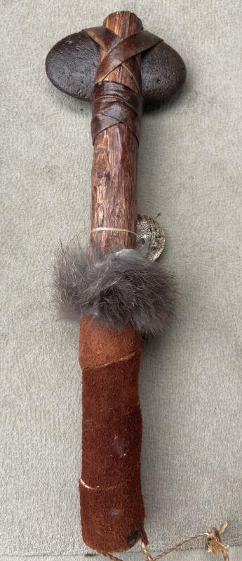 Native American Navajo Handmade Stone War Club Tomahawk hammer indian