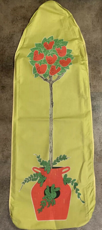 Great Vintage MCM Mod Design Ironing Board Cover Strawberry 🍓 Topiary