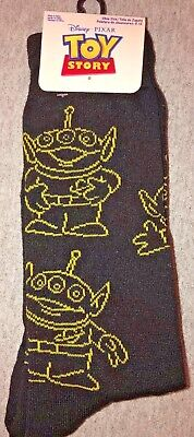 New Disney's ALIENS FROM TOY STORY Mens Pair Of Novelty Crew Socks SIZE 6-12