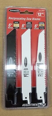 6 in. General Purpose Bi-Metal Reciprocating Saw Blade Assortment 12 Pc General Purpose Metal