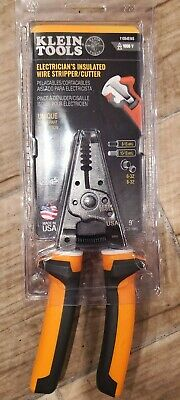 Klein Tools Electricians Insulated Wire Strippercutter 11054eins New