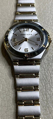 NWT Anne Klein Gold Tone Details Band Round Face Watch