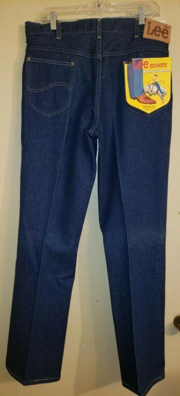 Vintage 70s Men's LEE RIDERS Boot Cut JEANS Deadstock NEW NWT 36x33
