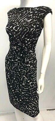 Lauren by Ralph Lauren Sheath Dress Career Casual Black White Lined SZ 2