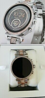 Michael Kors Access Silver Two-Tone Smartwatch MKT5064 *NOT WORKING*