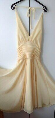 Women's Yellow Jessica McClintock Dress Halter Bouffant Empire Tutu Flare S: 10