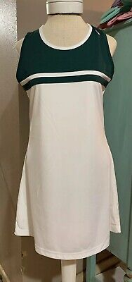 DIADORA Womens Regular Large L Tennis Dress White Green Diadora Tennis Apparel