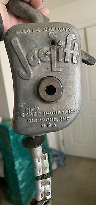Vintage 2000lb Capacity Jac-lift Comet Industries Heavy Duty Ratcheting Hoist