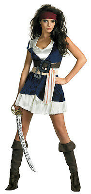Women's Pirates of the Caribbean Jack Sparrow Sassy Adult Costume Size XL