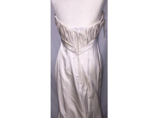 SEXY SILK PALOMA BLANCA FIT & FLARE  BRIDAL GOWN WEDDING DRESS 10 NWT