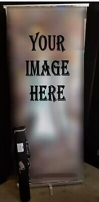 Expolinc Roll Up Compact Banner Stand Portable Trade Show Display W Case