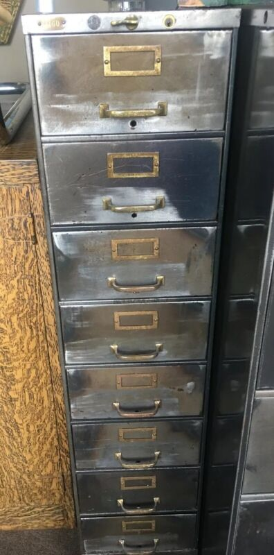 Steel Equipment Berger 8 Drawer Metal File Cabinet Industrial