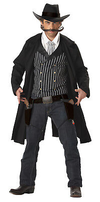 Old Western Cowboy Gunfighter Adult Men Costume (Mens Western Costumes)