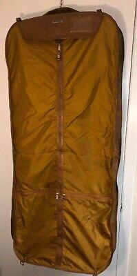 VINTAGE Brown SAMSONITE hanging GARMENT suit soft bag Luggage Over Shoulder