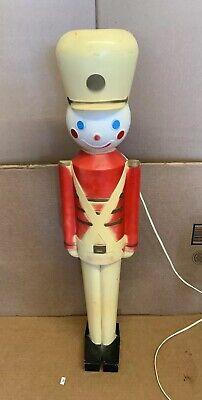 Vintage Blow Mold Union Toy Soldier In Original Box