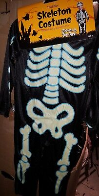 Halloween Skeleton Glow in Dark Bodysuit Costume With Hat 6-12 Month/2t/3t-4 NW - 3 6 Month Halloween Costumes