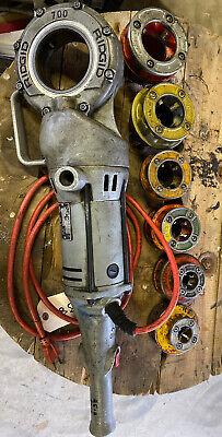 Ridgid 700 Power Drive Pipe Threader Wdies And Oiler Bucket 8139