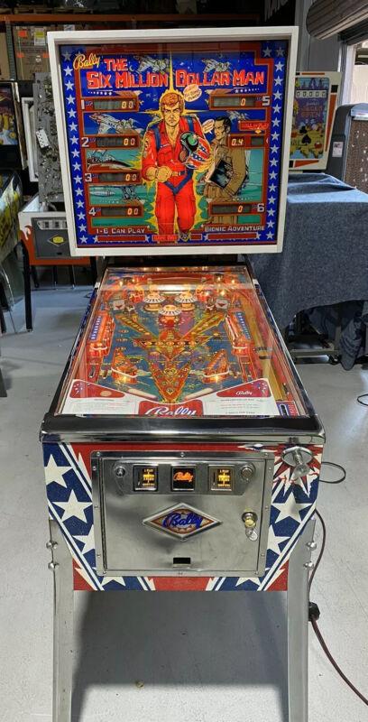 Six Million Dollar Man Pinball Machine Restored Coin Op Bally 1978 Free Ship