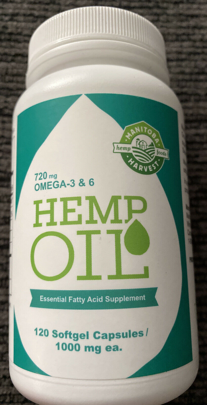 Hemp Oil, 1,000 mg, 120 Softgel Capsules