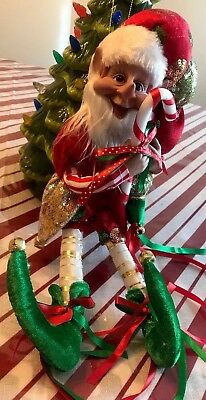 "Posable Elf Christmas Santa Elf 14"" Christmas Tree Ornament Elf Decor - Elf Christmas Decorations"