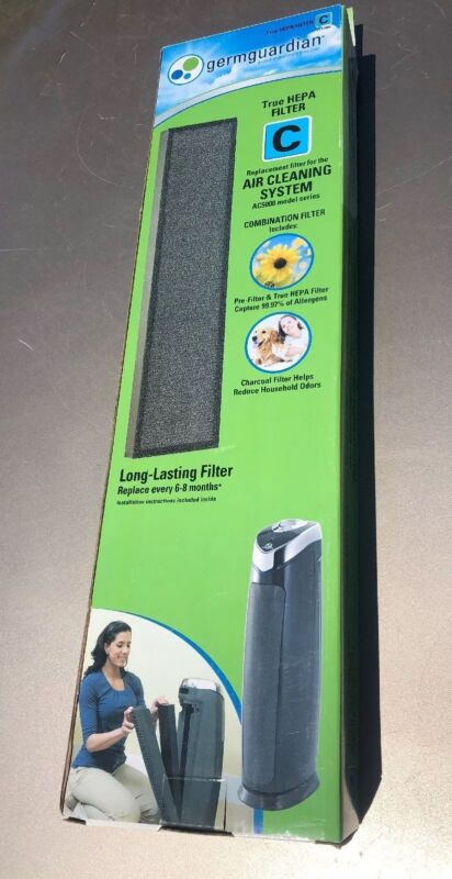 GermGuardian True HEPA Replacement Filter for AC5000 3-in-1 Air Cleaning System White FLT5000