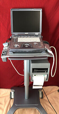 2012 Ge Logiq E 20v 5a With Dvd Cart And Printer The Prob Sold Separately