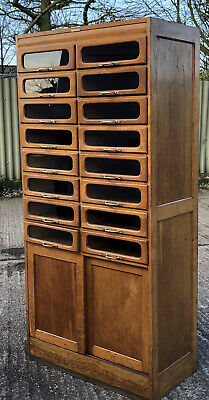 FINE RARE ARTS & CRAFTS OAK HABERDASHERY SHOP DISPLAY CABINET  WE DELIVER
