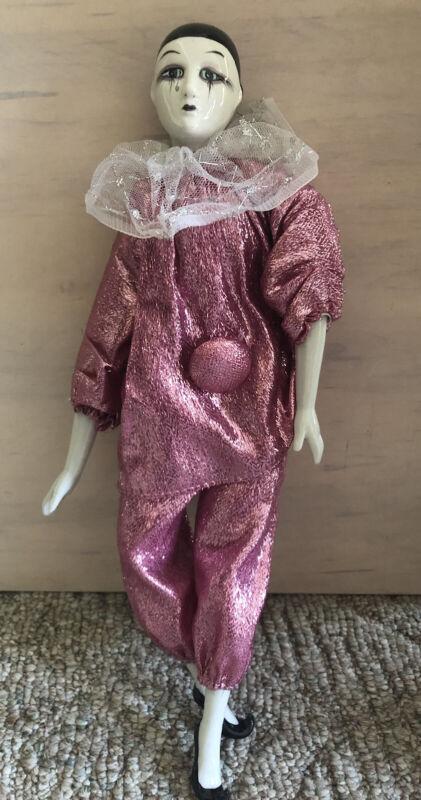 Harlequin porcelain doll