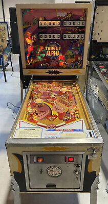 Target Alpha Pinball Machine Coin Op Gottlieb 1976 Free Shipping