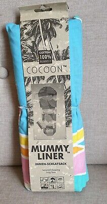 COCOON Mummy Liner 100 % Cotton Tapered Sleeping Bag Liner- Banana Beach - (Cocoon Mummy Sleeping Bag)