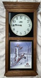 24 WILD WINGS Wildlife Ducks Regulator Wall Clock, McAdams Canadian Whiskey