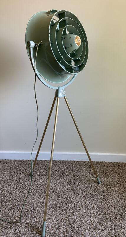 Vintage Floor Fan Hunter V12 Tripod Retro Mid Century PV1258 Rare Fine NICE!