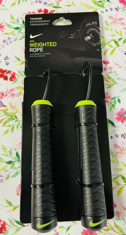 Nike Weighted Rope Skipping Sports Jump Adjustable .5 LB 9