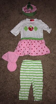 strawberry shortcake halloween costume size 6-12 months nwot - Strawberry Halloween Costume