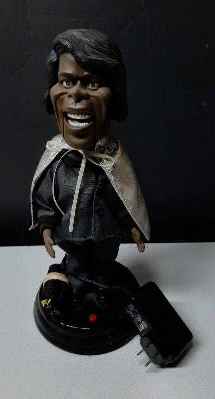 "James  Brown Dancing & Singing 19"" Doll ""I Feel Good"" Silver Cape  Rare Gemmy"