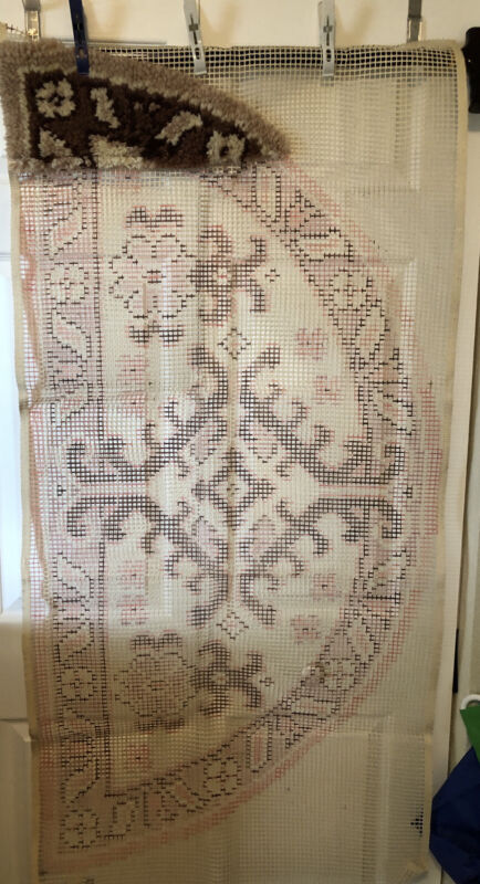 Shillcraft Readicut Rugs Semi Circle Browns Booklet Hook Personal Label Started