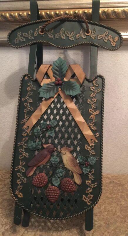 Decorative Christmas Winter Birds  Metal Sleigh