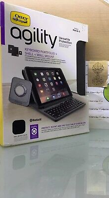 OtterBox Agility Keyboard Portfolio + Shell + Wall Mount for iPad Air 2 78-50457