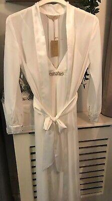 JENNY PACKHAM BRIDAL SILK BLEND CHEMISE & DRESSING GOWN