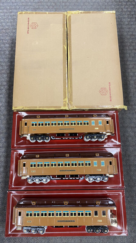 + Lionel Classics Standard Tinplate 3-Car Two Tone Brown State Passenger Set