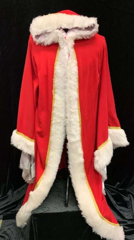 Kris Kringle Old Man Winter Christmas Biblical Robe Red White