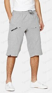 New- Men's Sonneti Hydrated Fleece Jogging Pants Long Shorts - Navy Blue & Grey