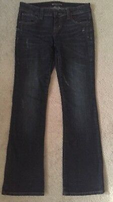 UGS Underground Soul Womens Ladies Jeans Pants SZ 7 Dark Distressed Stretch for sale  Shipping to Nigeria
