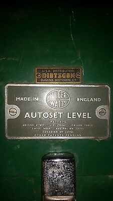 Hilger Watts Dietzgen Autoset Level Sl 60-2 Surveyor Made In England With Case