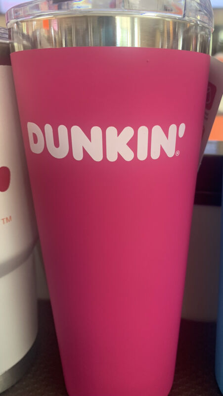 PINK DUNKIN DONUTS 20oz Stainless Steel Travel Tumbler 2020 New Release!
