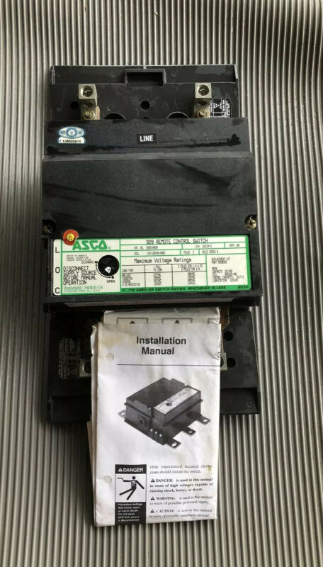 Asco 920 Remote Control Switch 100A Lighting Contactor 920210030 2 Pole