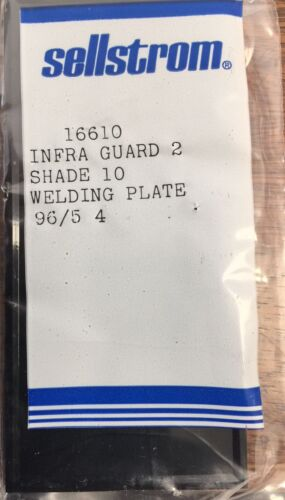 50 Safeguards 4 1/4x2.01x0 1/8in Shade 10 Plate Infra Guard 2 Sellstrom - Made