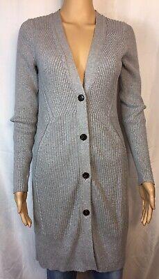 Banana Republic Gray Women's Cotton Button-Front Long Cardigan/Coat/Sweater SZ M
