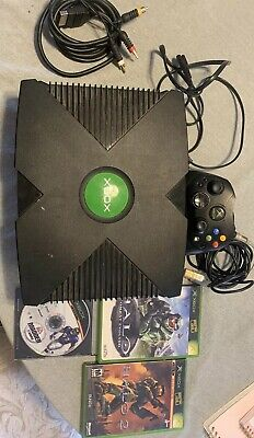 Original Xbox Console OG Xbox With 1 Controller, All Cords, 3 Games PLAYS GREAT